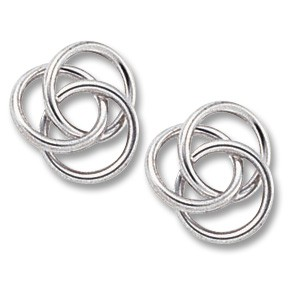 Large Love Knot Studs