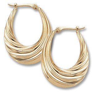 Deep Swirls Hoops