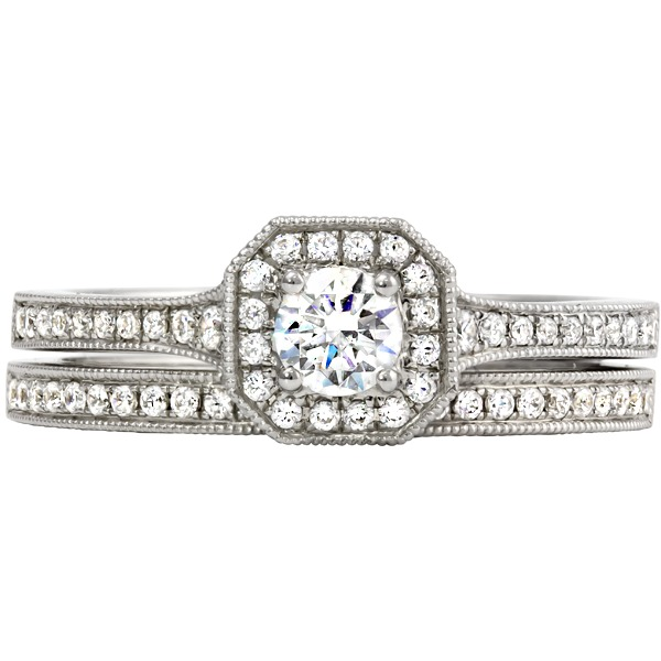 Diamond Wedding Set - Rego Designs 14k White Gold