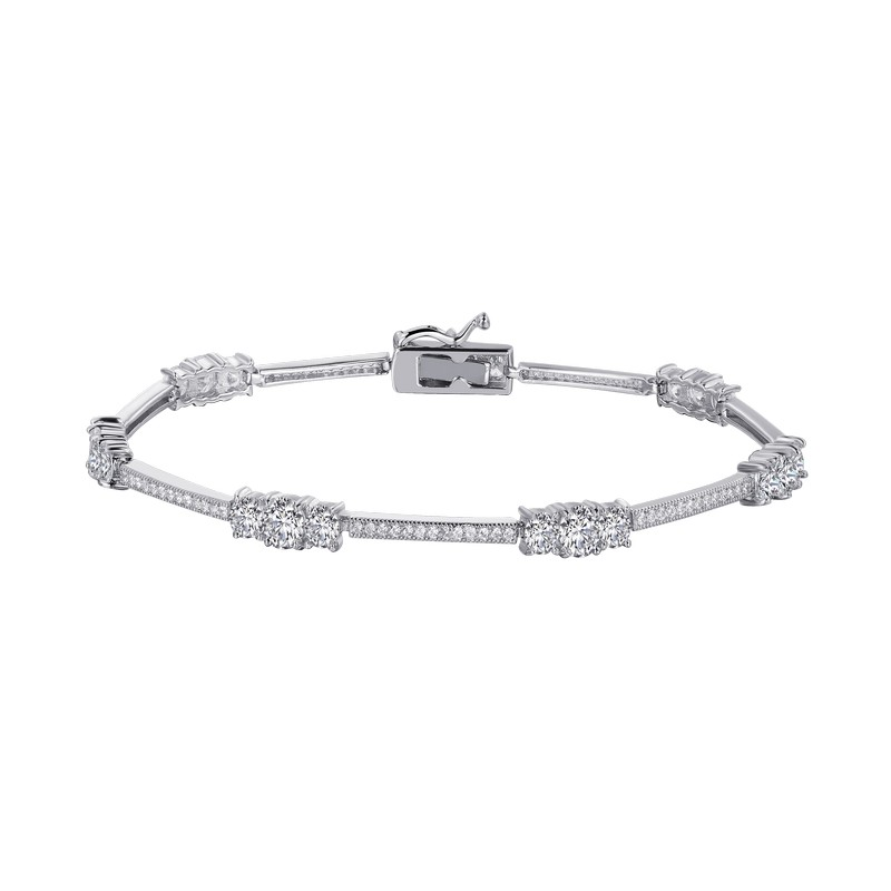 Simulated Diamond Bracelet- 128 Stone Count SS