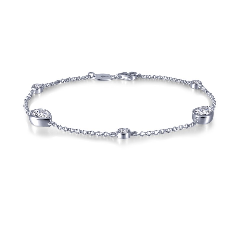 Simulated Diamond Bracelet- 5 Stone Count SS
