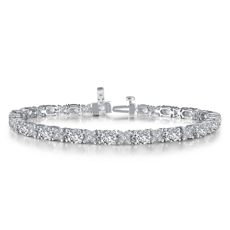Silver Simulated Diamond Bracelet