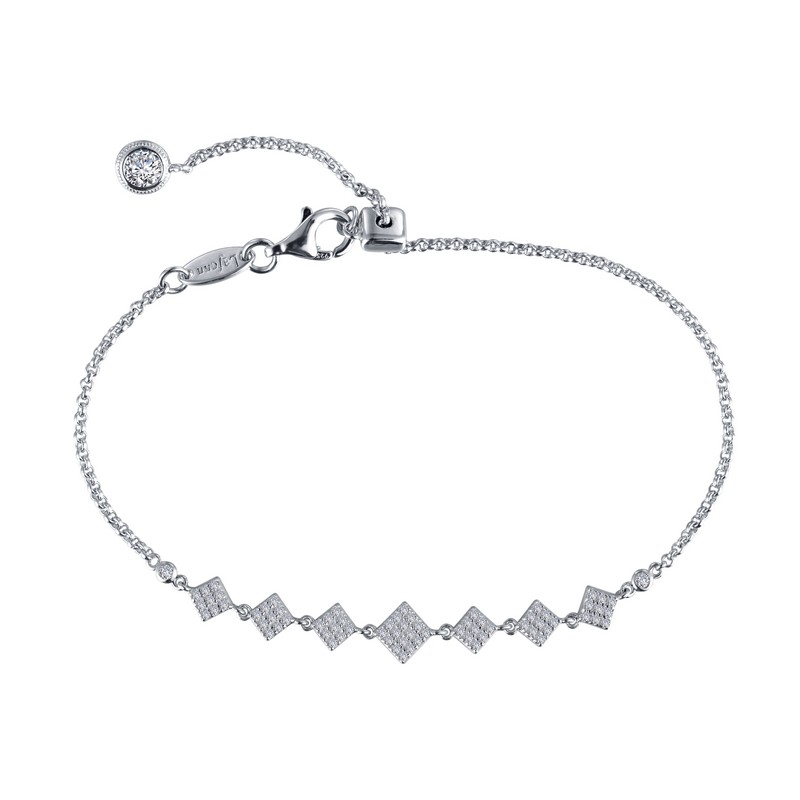 Simulated Diamond Chain Bracelet