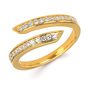Channel-Set Diamond Fashion Ring