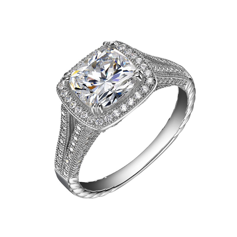 Elegant Simulated Diamond Ring - SS Diamond