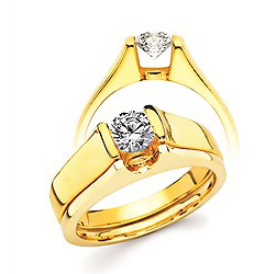 Diamond Engagement Ring - Ostbye Ultrafit® Floating Collection 14K Gold